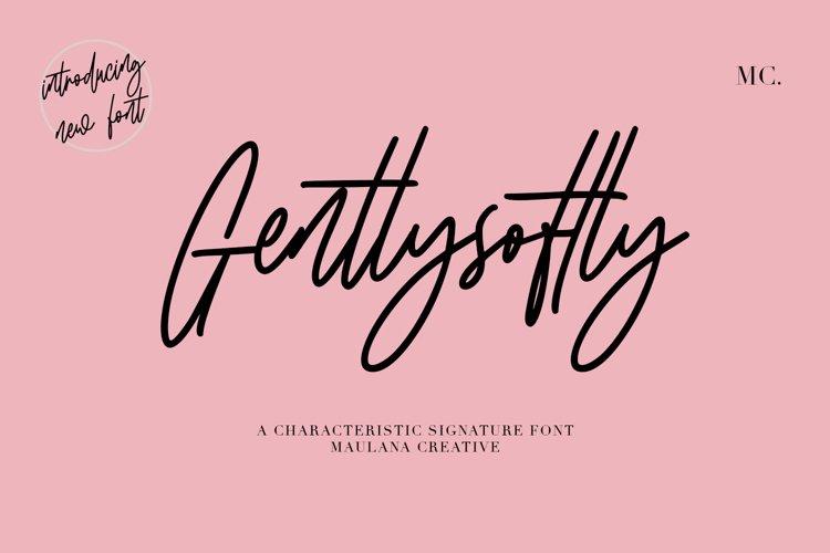Gentlysoftly Signature Script Font example image 1