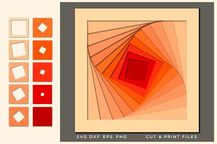 Wall art 3D, Geometric Svg, File for Cricut, Laser, cnc plan