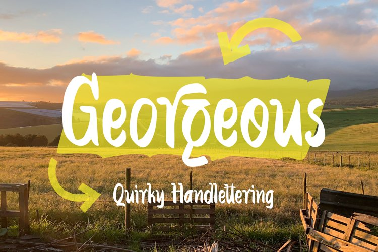 Georgeous - Quirky Handlettering Font example image 1