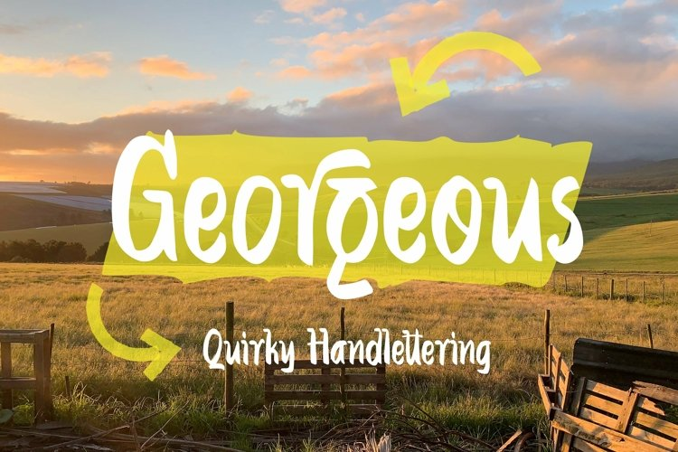 Web Font Georgeous - Quirky Handlettering Font example image 1