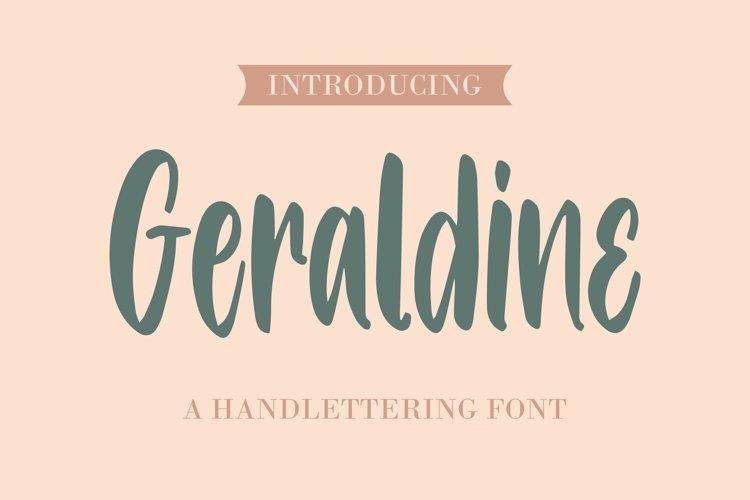 Web Font Geraldine - Handlettering Font example image 1