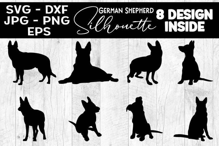 German Shepherd Dog Silhouettes SVG German Shepherd Dog SVG