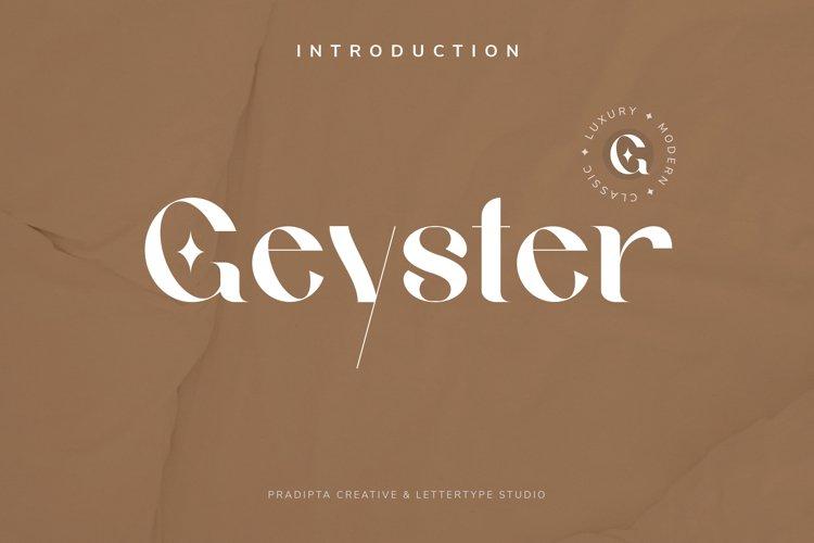 Geyster Modern/Vintage Font example image 1