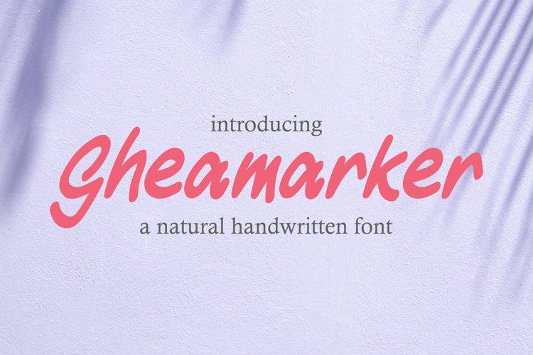 Gheamarker - Natural Handwritten Font