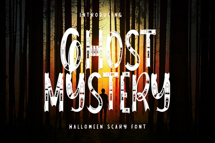 Ghost Mystery - Halloween Scary Font example image 1