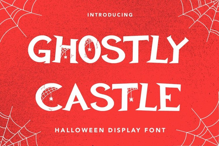 Web Font Ghostly Castle - Halloween Display Font example image 1