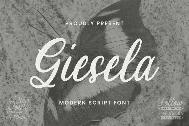 Web Font Giesela Font example image 1