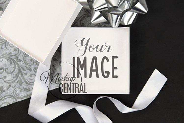 Open Empty Gift Box Mockup Product Display Design Photo