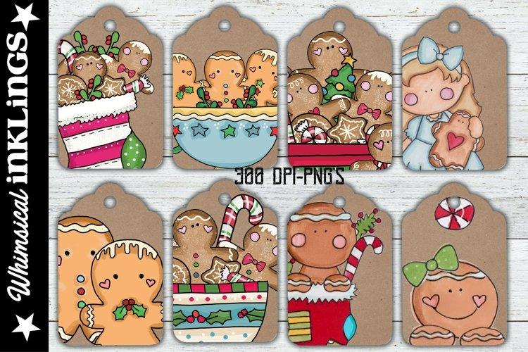 Gingerbread Kraft Printable Tags example image 1