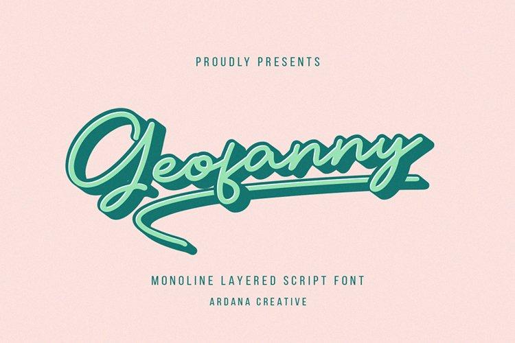 Geofanny | Monoline Layered Script Font example image 1