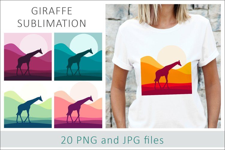 Giraffe Sublimation Designs PNG