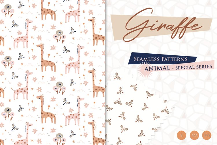 Giraffe - Baby Seamless Patterns