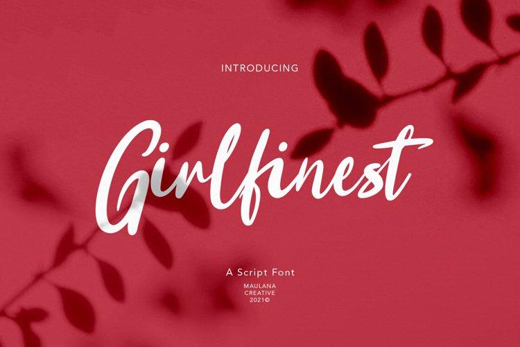 Girlfinest Script Font example image 1