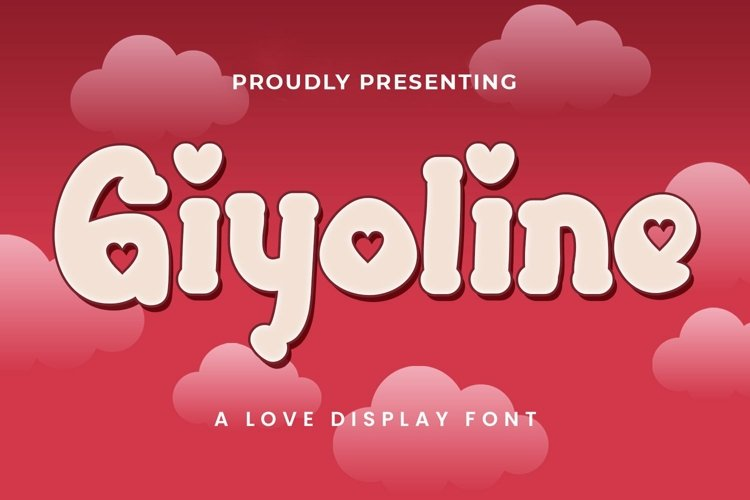 Web Font Giyoline - Valentines Font example image 1