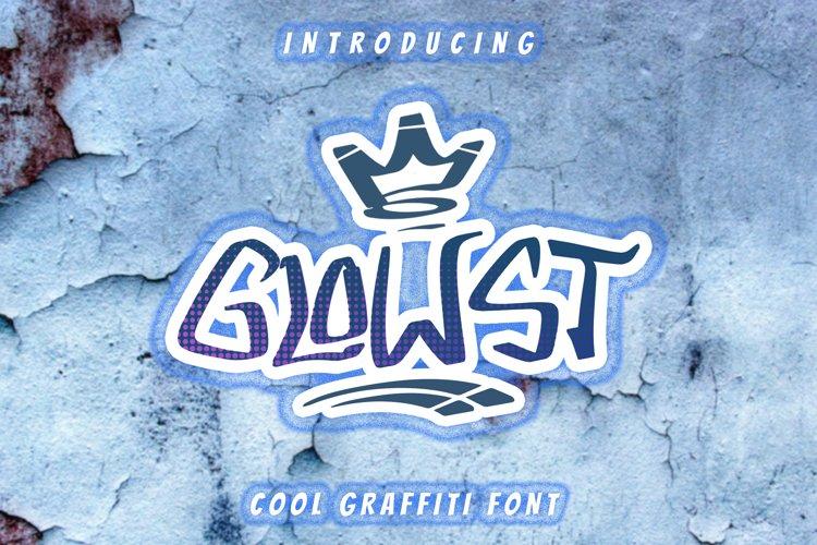 GLOWST Graffiti Font example image 1