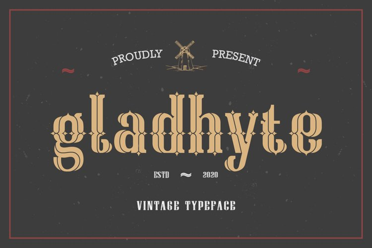 Gladhyte   Vintage Display Font example image 1