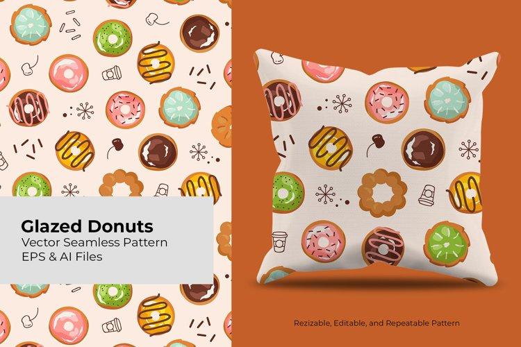 Glazed Donut | Seamless Pattern