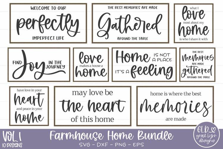 Farmhouse Home Bundle - 10 Farmhouse Sign SVGs example image 1