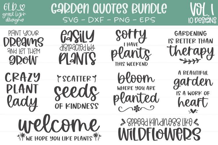 Garden Quotes Bundle Vol. 1 - 10 Garden SVGs