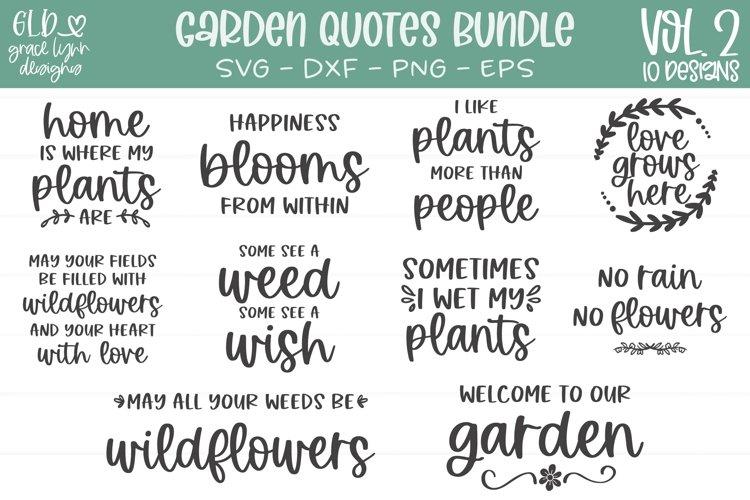 Garden Quotes Bundle Vol. 2 - 10 Garden SVGs