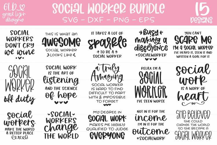 Social Worker Bundle - 15 Social Work SVGs example image 1