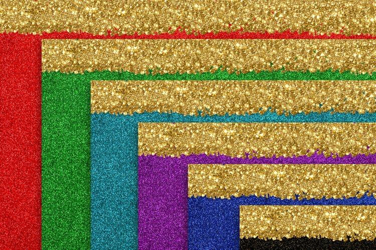 Glitter backgrounds Bundle texture glittering golden stripes