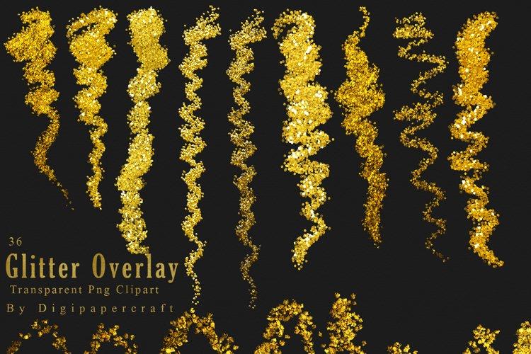Gold Glitter Clipart, Glitter dust, Sparkling fairy glitter