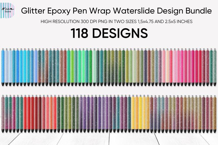 Glitter Epoxy Pen Wrap Waterslide Design Bundle