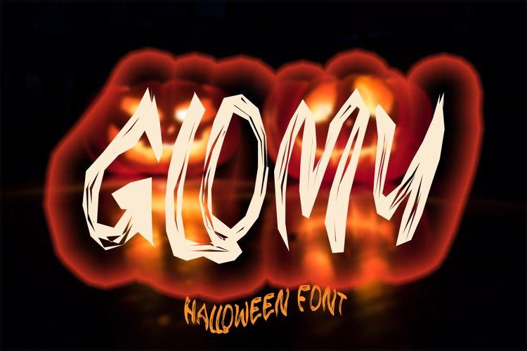 GLOMY - Halloween Horror Font example image 1