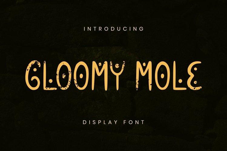 Web Font Gloomy Mole Font example image 1