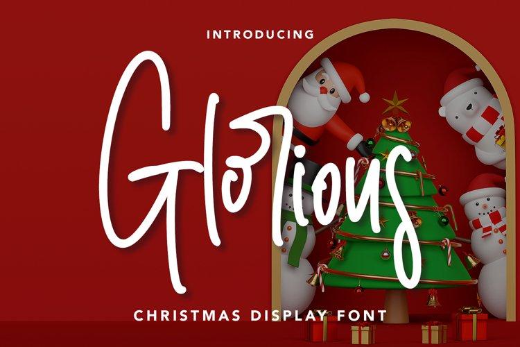 Glorious - Christmas Display Font example image 1