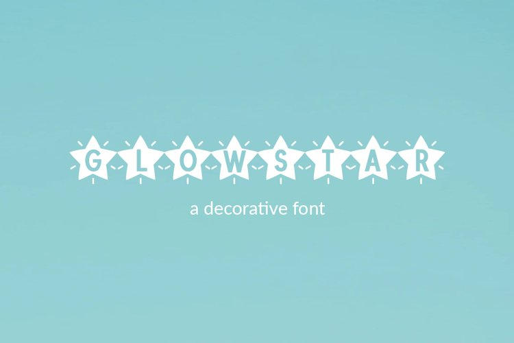 Glowstar - a decorative craft font example image 1