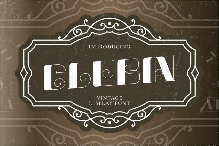 Web Font Glubin example image 1