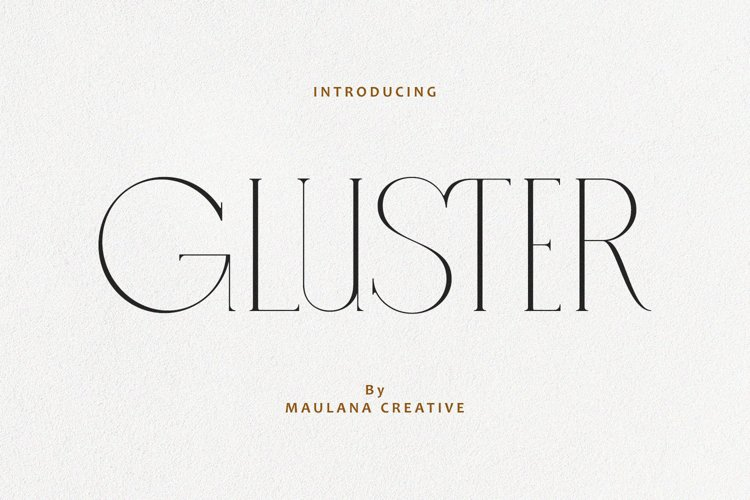 Gluster Serif Display Font Typeface example image 1