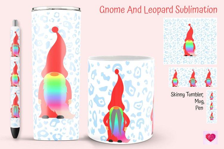 Rainbow Gnome Tumbler And Mug Wrap. Leopard Epoxy Pen Wrap