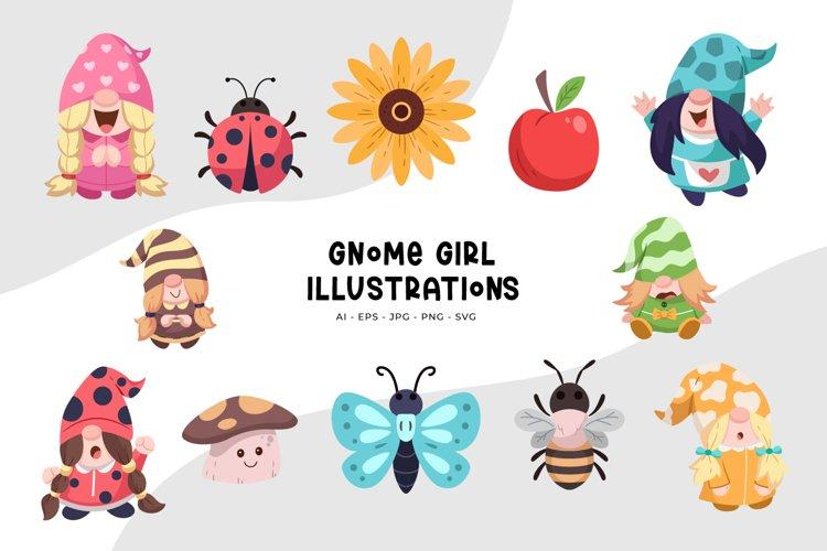 Gnome Girl Illustrations