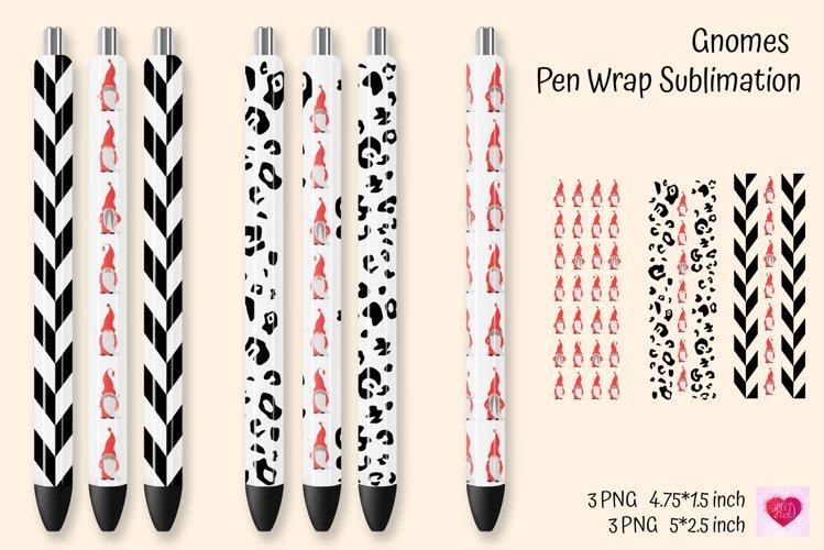 Gnomes Pen Wrap Sublimation. Waterslide Pen Wraps example image 1