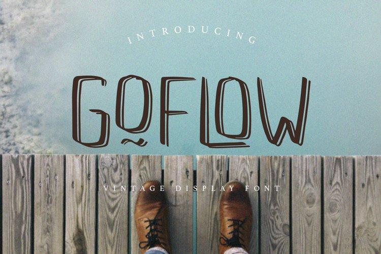 GOFLOW Vintage Display Font example image 1