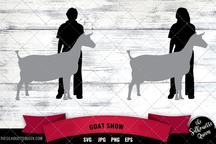 Goat Show Vector Silhouette example image 1