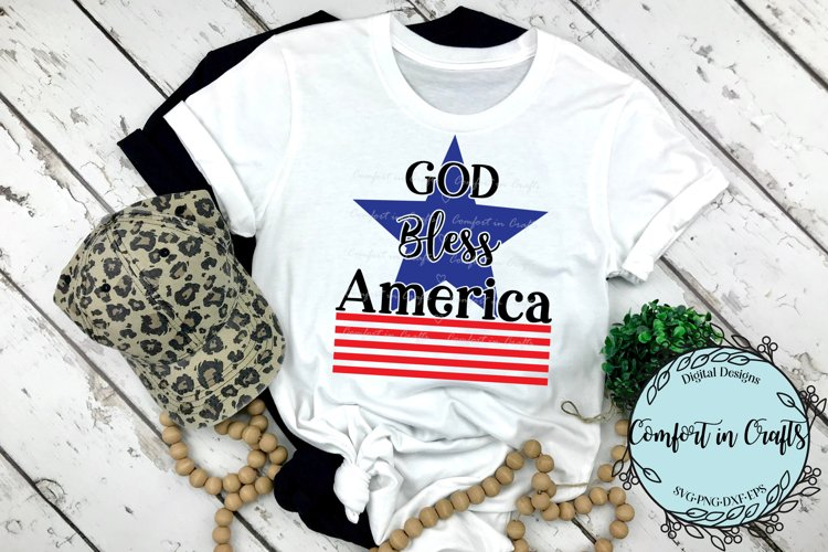 God Bless America Independence Day SVG example image 1