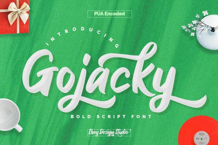 Gojacky - Bold Script Font example image 1
