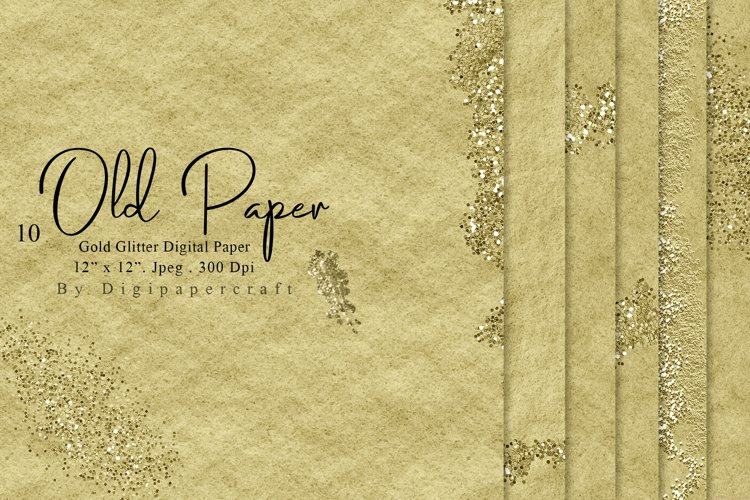 Old Paper Texture, Recycled Digital Paper, Kraft Paper Pack