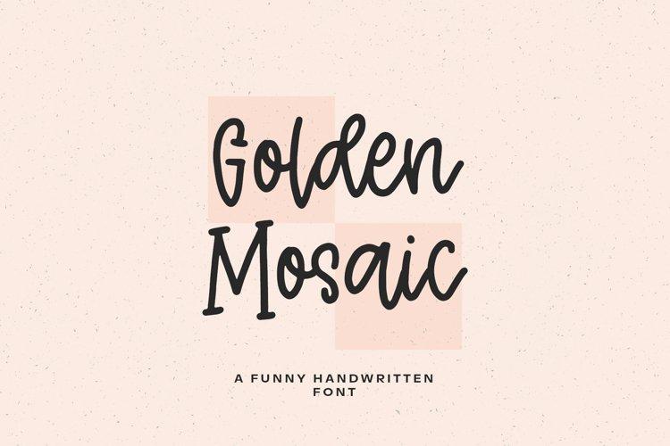 Golden Mosaic script example image 1