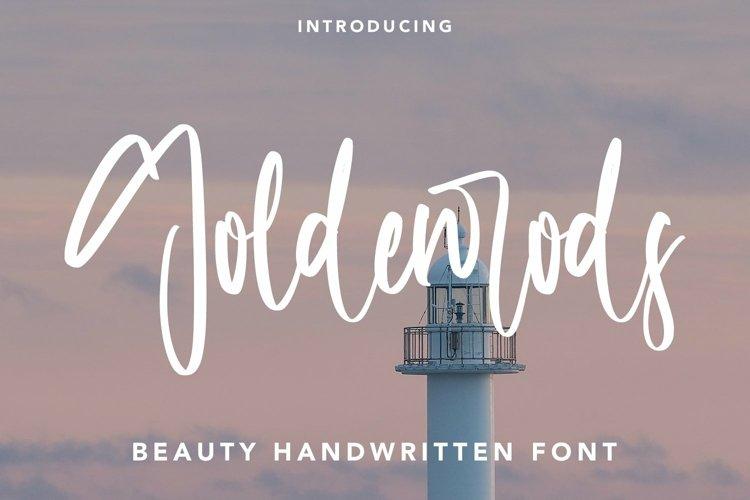 Web Font Goldenrods - Beauty Handwritten Font example image 1
