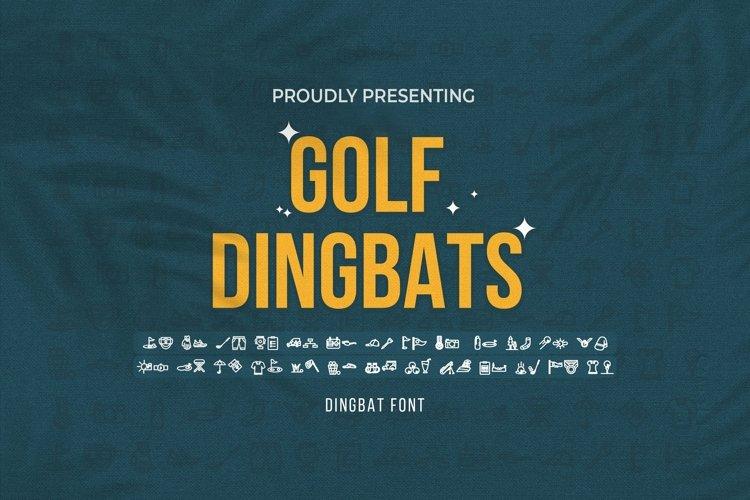 Web Font Golf - Dingbats Font example image 1