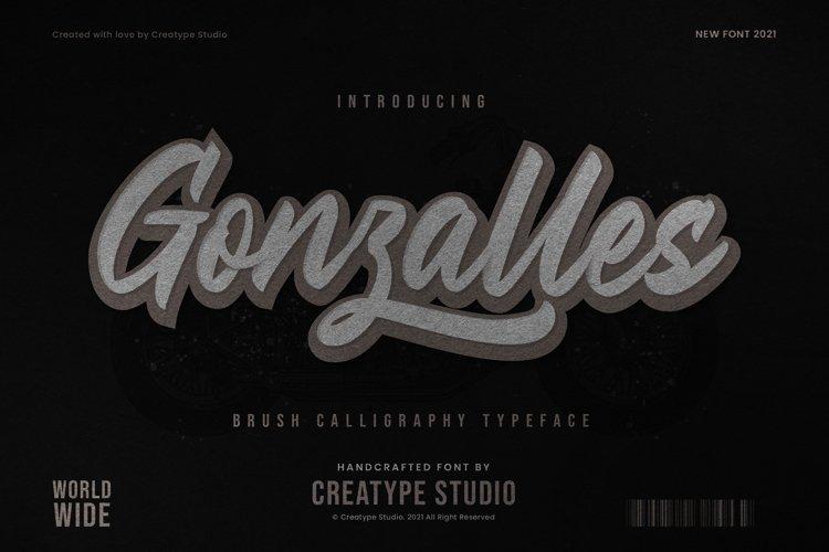 Gonzalles Brush Calligraphy example image 1