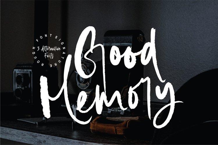 Good Memory Brush Font Trio example image 1
