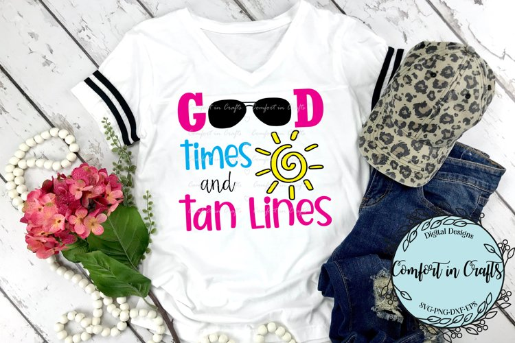 Good Times Tan Lines Beach SVG example image 1