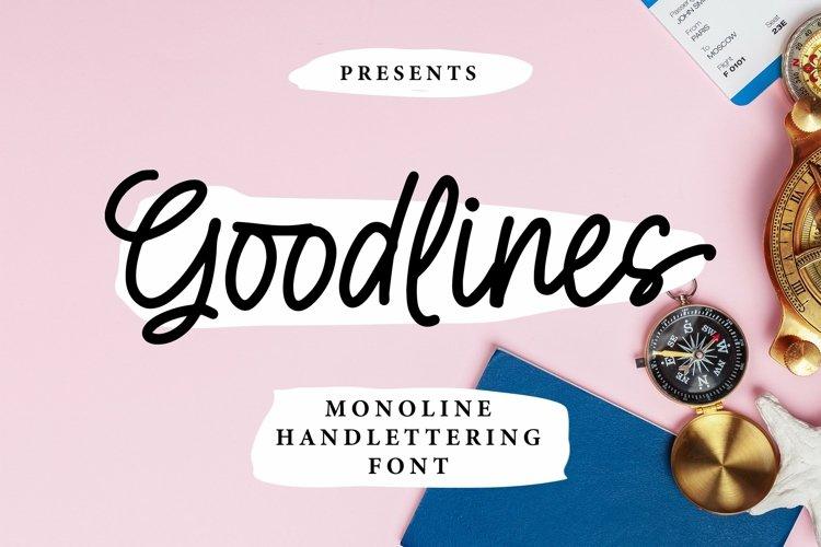 Web Font Goodlines - Monoline Handlettering Font example image 1