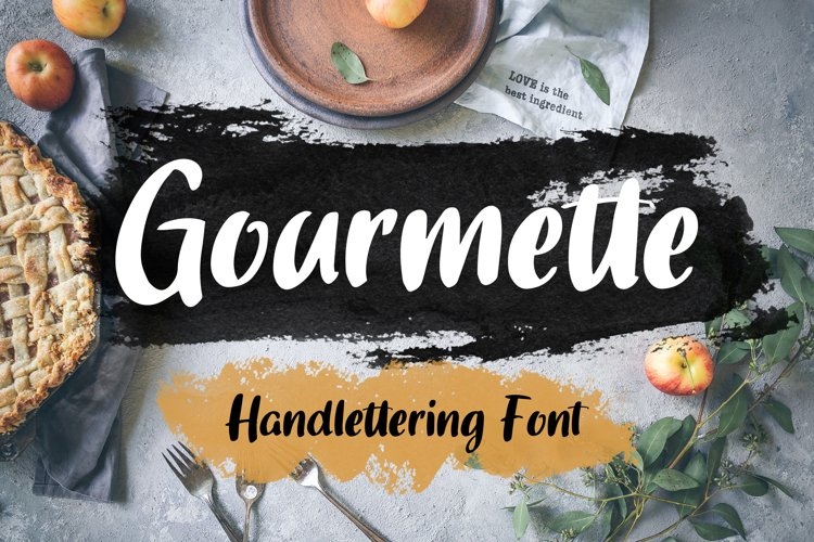 Gourmette - Handlettering Font example image 1